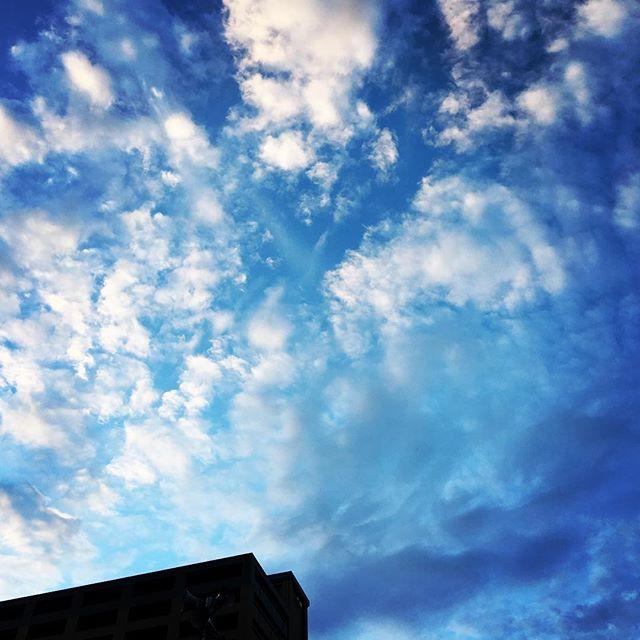 【ぐもにん2163】思うこと考えてしまうことはたくさんあるから、今目の前の1つに集中する。今日も「笑顔の選択」と。#goodmorning #beautifulsky #clouds #bluesky