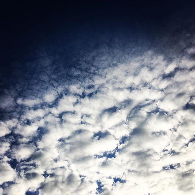 【ぐもにん2232】あたりまえをありがたいにしたらなんだかとてもいいかんじ。今日も「笑顔の選択」と。#goodmorning #beautifulsky #bluesky #cloudart #clouds #sky