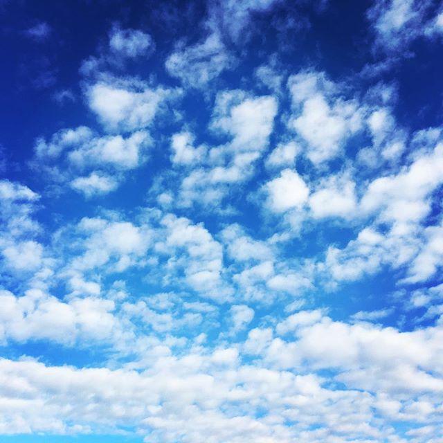 【ぐもにん2302】自分がいる世界は自分が作ってる。在りたいように。今日も「笑顔の選択」と。#goodmorning #beautifulsky #bluesky #cloudart #cloud #blue