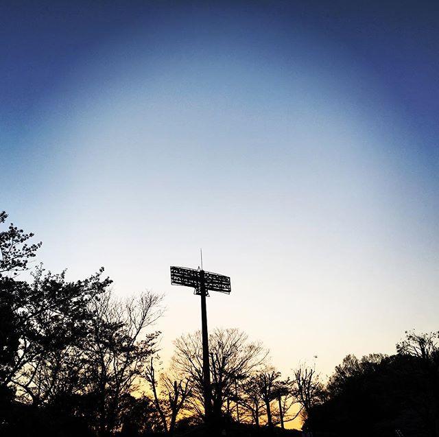 【ぐもにん2367】全てここに。今日も「笑顔の選択」と。#goodmorning #beautifulsky #sky #stadium #sunset