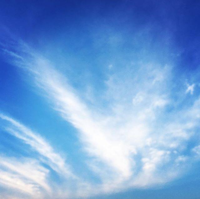 【ぐもにん2515】新しい朝を迎えた奇跡。今日を存分に、とことん。今日も「笑顔の選択」と。#goodmorning #beautifulsky #beautiful #sky #clouds #cloudart #bluesky #blue #おはよう